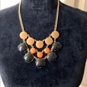 Layered Stone Statement Costume Jewelry Necklace